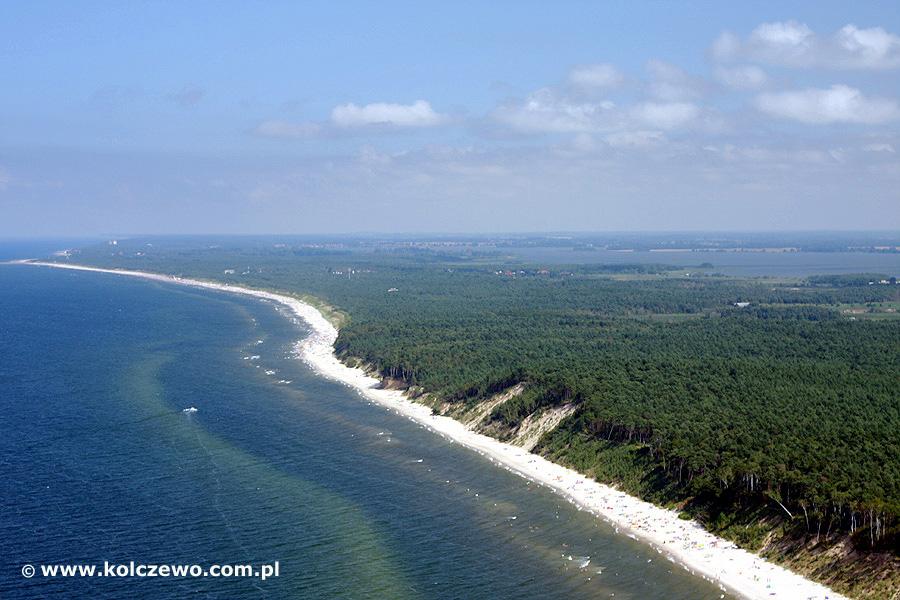 Kołczewo - widok na morze
