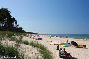 Plaża w Rusinowie